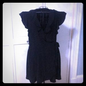 Little black wrap over dress